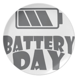 18th February - Battery Day - Appreciation Day Plate