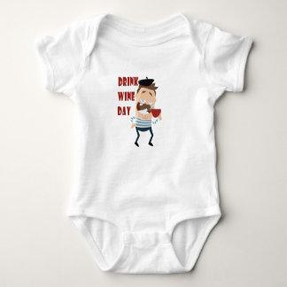 18th February - Drink Wine Day - Appreciation Day Baby Bodysuit