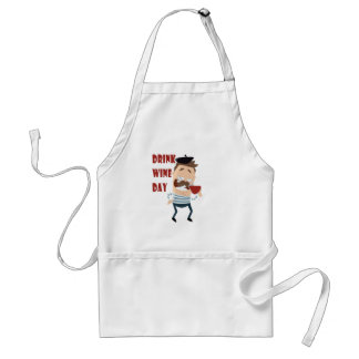 18th February - Drink Wine Day - Appreciation Day Standard Apron