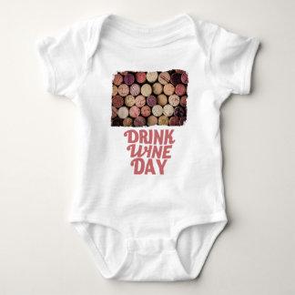 18th February - Drink Wine Day Baby Bodysuit
