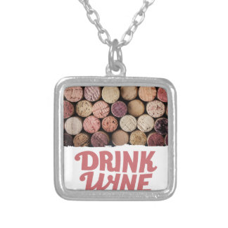 18th February - Drink Wine Day Silver Plated Necklace