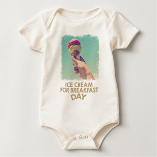 18th February - Eat Ice Cream For Breakfast Day Baby Bodysuit