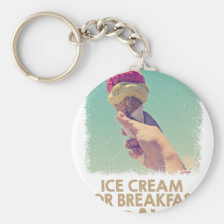 18th February - Eat Ice Cream For Breakfast Day Key Ring