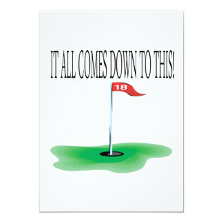 18th Hole Card