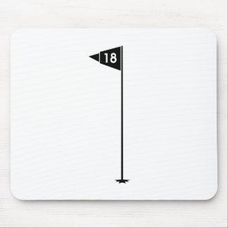 18th Hole Golf Flag Mouse Pad