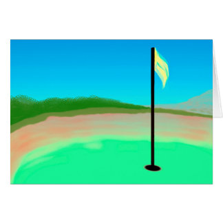 18th Hole Greeting Card