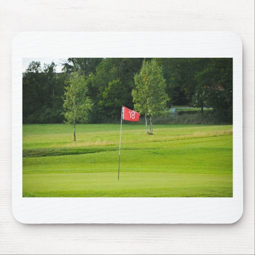 18th Hole of The Golf Course Mouse Pads