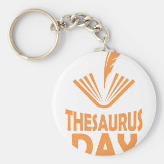 18th January - Thesaurus Day Basic Round Button Key Ring