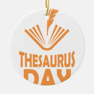 18th January - Thesaurus Day Ceramic Ornament