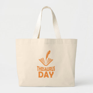 18th January - Thesaurus Day Large Tote Bag