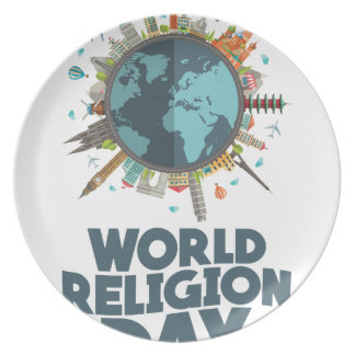 18th January - World Religion Day Party Plates
