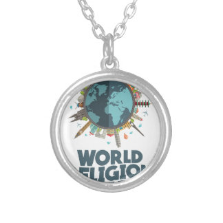 18th January - World Religion Day Silver Plated Necklace