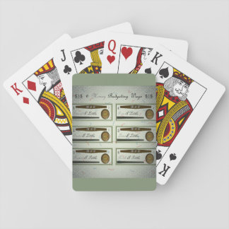 18th Quote; 6 Money Budgeting Ways Playing Cards