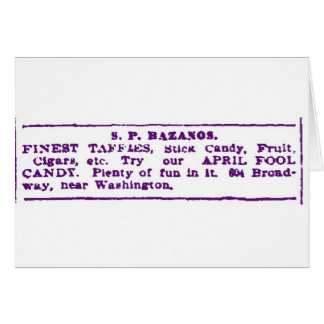 1900 April Fool Candy Ad Augusta GA Card