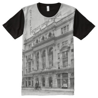 1900 - Campus Martius with old Opera House All-Over Print T-Shirt