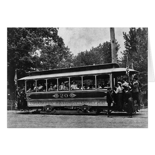 1900 Columbia Railway Trolley Greeting Card