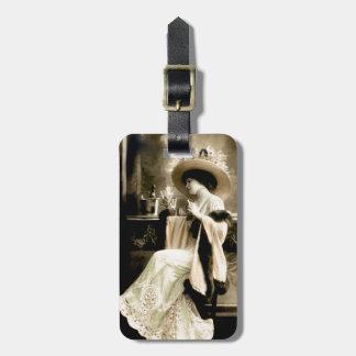 1900 Parisian Woman Drinking Champagne Luggage Tag
