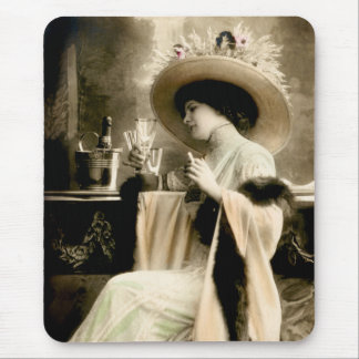1900 Parisian Woman Drinking Champagne Mouse Pad