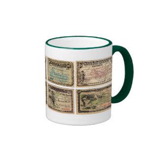 1900's CA Fishing Licenses Ringer Mug