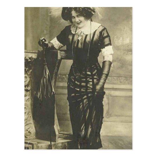 1900's fancy woman post card