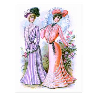 1900s Fashion Dresses Post Card