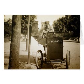 1900s Mail Man Greeting Card