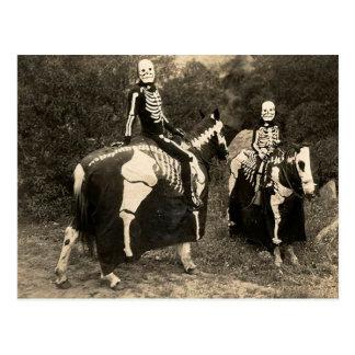 1900's Skeleton Horsemen Postcard