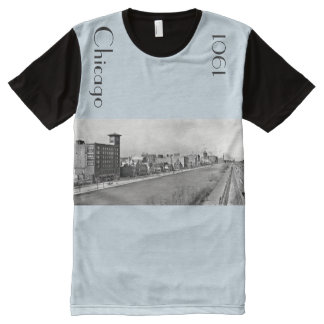 1901 Chicago Lakefront in panoramic All-Over Print T-Shirt
