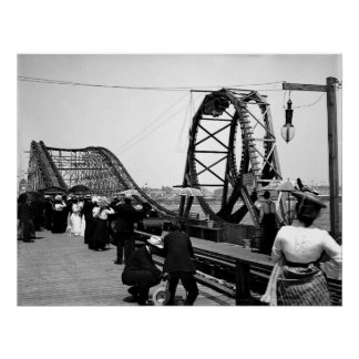 1901 The Loop Roller Coaster Poster
