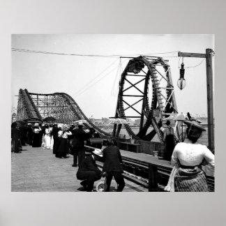 1901 The Loop Roller Coaster Print