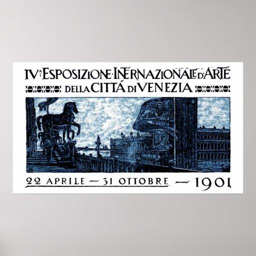 1901 Venice Art Exhibit Poster