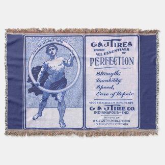 1902 G & J Tires ad print Throw Blanket