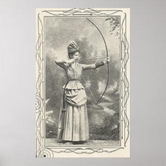1904 Female Archery Champion Poster