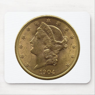 1904 Twenty Dollar Coin front (heads) or $20 money Mouse Pad