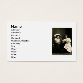 1905 Beer Drinking Girl Friends Business Card