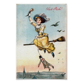 1905 Easter Witch Poster
