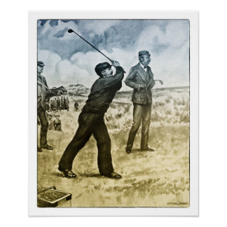 1905 Fisherman Playing Golf - Archival Print