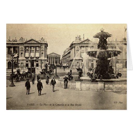 1905 Place de la Concorde Paris Vintage Greeting Card