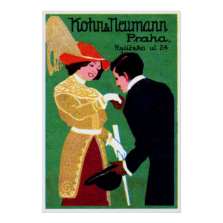 1905 Prague Fashion Poster