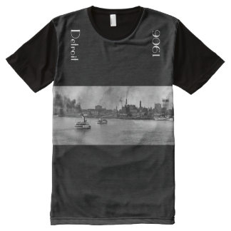 1906 - Detroit Riverfront in panoramic All-Over Print T-Shirt