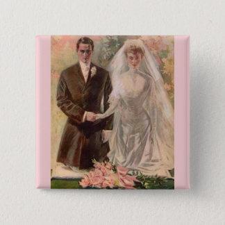 1906 Edwardian wedding 15 Cm Square Badge