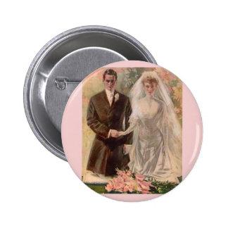 1906 Edwardian wedding 6 Cm Round Badge