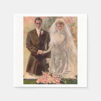 1906 Edwardian wedding Paper Napkin