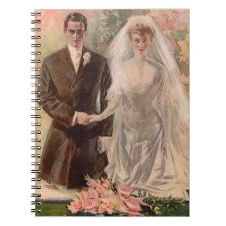 1906 Edwardian wedding Spiral Notebook