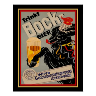 1906 German Bock Beer Advertisement 16x20 Poster