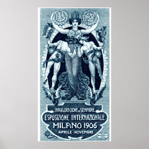 1906 Milan International Expo Print