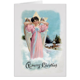 1906 Old-Fashioned Angel Christmas Card