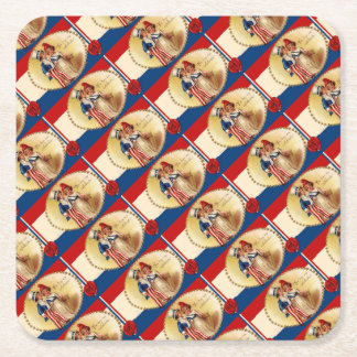 1906 The Day We Celebrate 4th of July Square Paper Coaster
