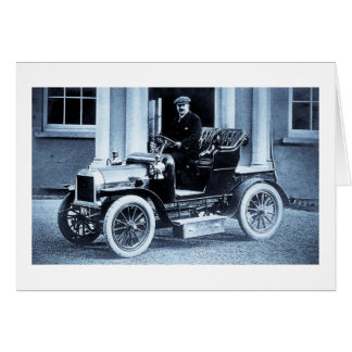 1907 Automobile Car Driver Motorist Vintage Card