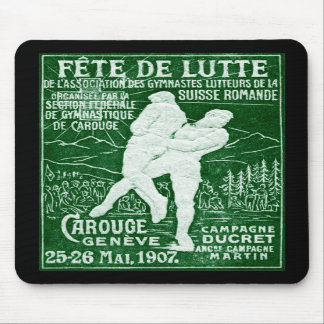 1907 Swiss Wrestling Mousepad